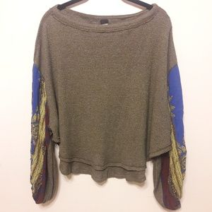 Free People/we the free Blossom Thermal Green top